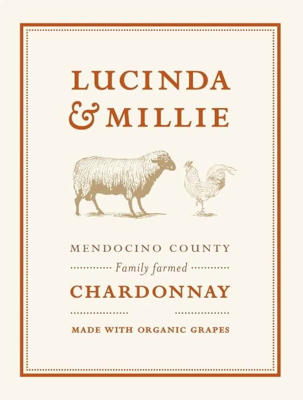 Lucinda & Millie Organic Chardonnay 2017 Front Label