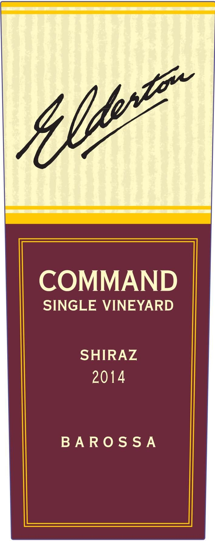Elderton Command Shiraz 2014  Front Label