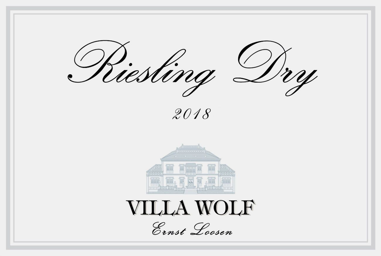 Villa Wolf Riesling Dry 2018 Front Label