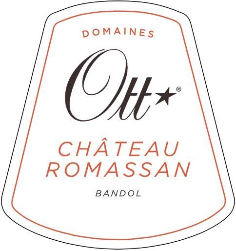 Domaines Ott Chateau Romassan Grand Cru Bandol Rose 2018  Front Label