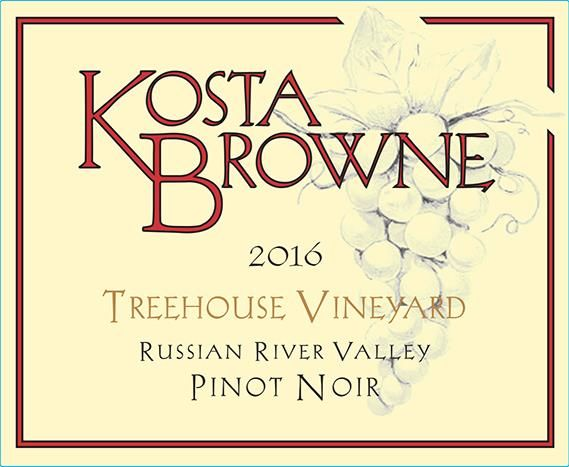 Kosta Browne Treehouse Vineyard Pinot Noir 2016  Front Label