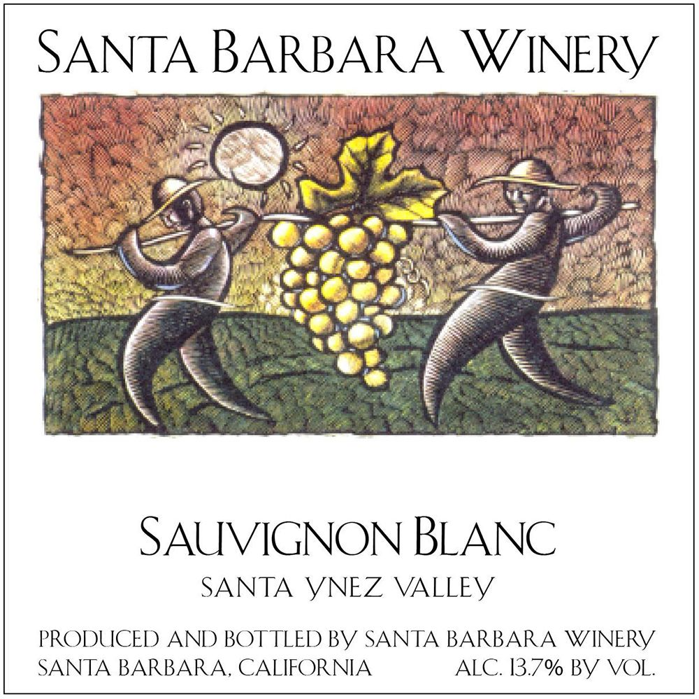 Santa Barbara Winery Sauvignon Blanc 2018  Front Label