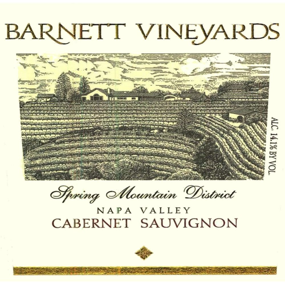 Barnett Vineyards Spring Mountain Cabernet Sauvignon 2016 Front Label