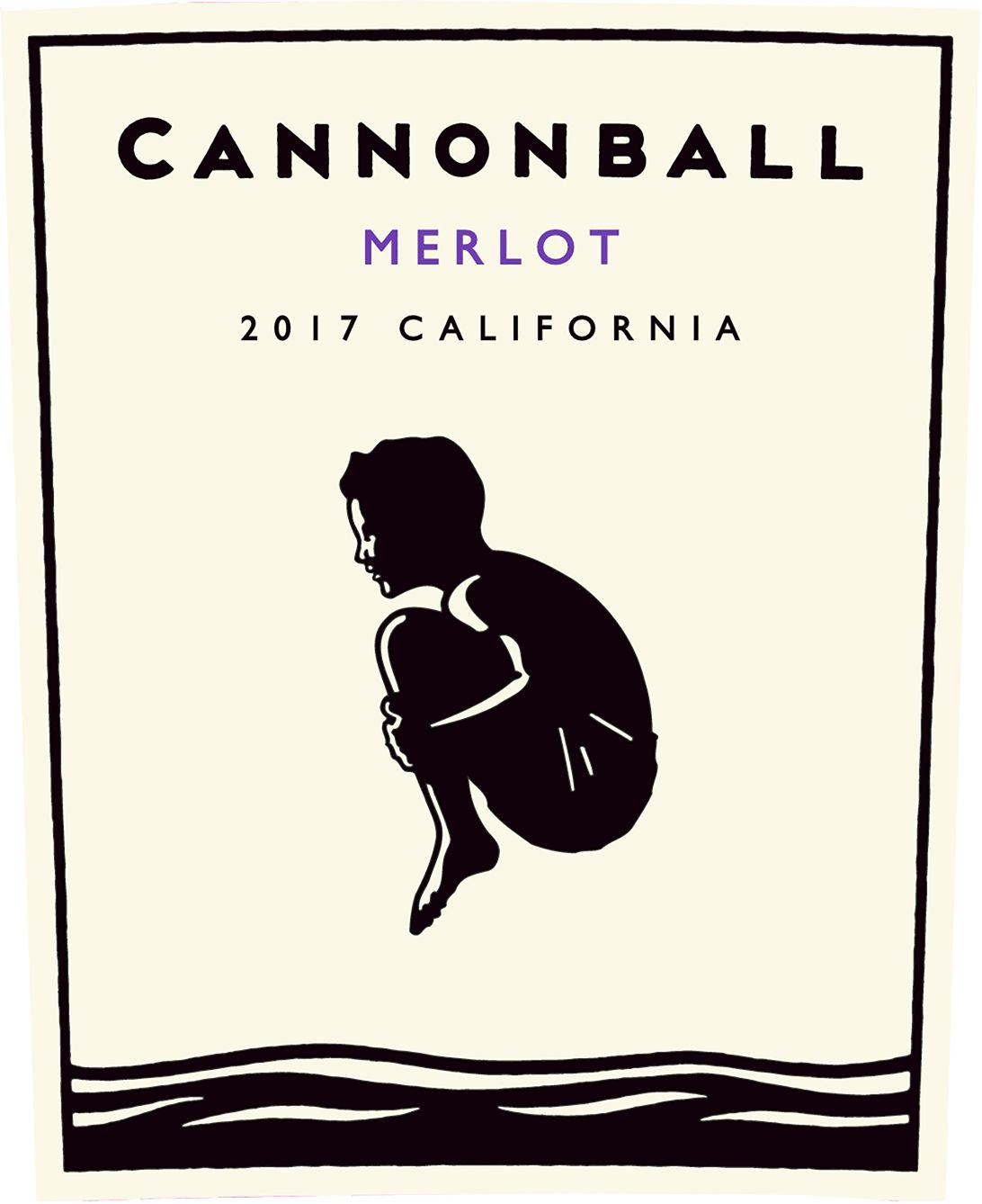 Cannonball Merlot 2017  Front Label