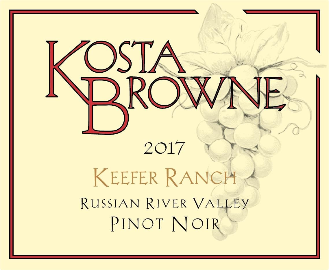 Kosta Browne Keefer Ranch Vineyard Pinot Noir 2017  Front Label