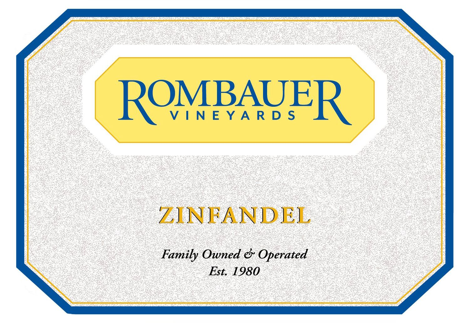 Rombauer California Zinfandel (375ML half-bottle) 2017 Front Label