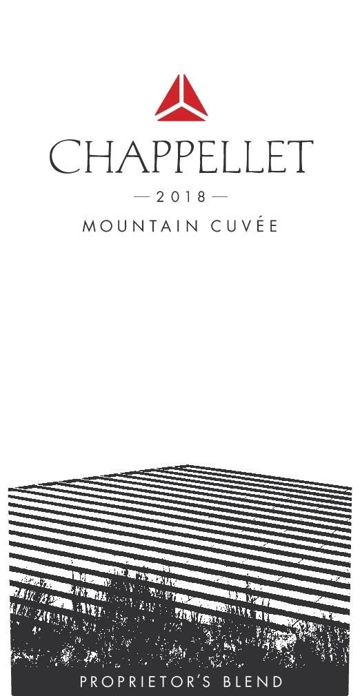 Chappellet Mountain Cuvee Proprietor's Blend 2018  Front Label