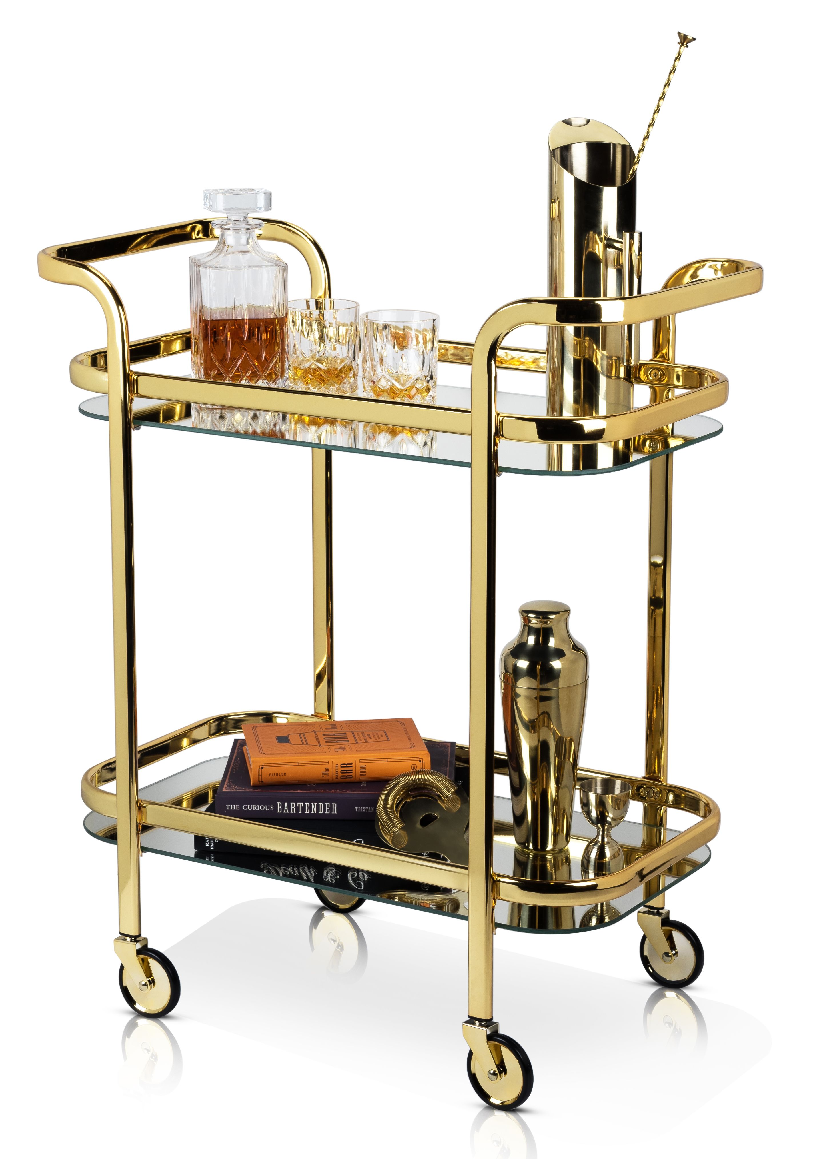 wine.com  Gold Bar Cart by Viski  Gift Product Image