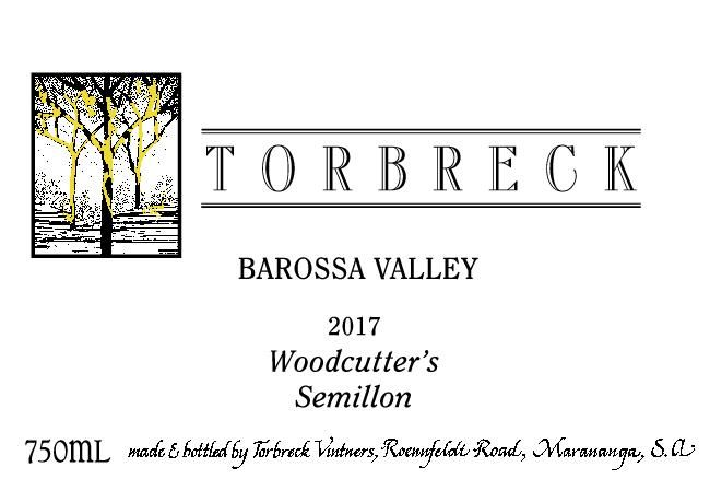 Torbreck Woodcutter's Semillon 2017 Front Label