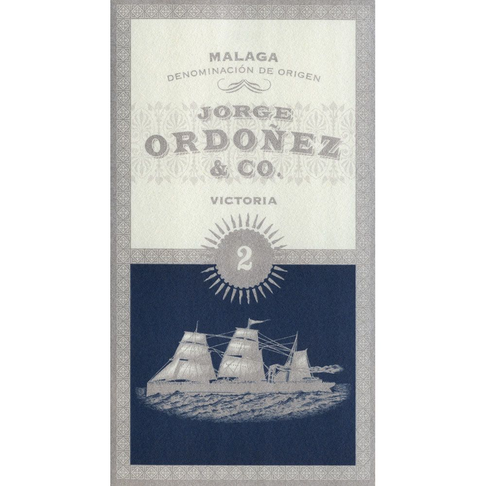 Bodegas Jorge Ordonez Malaga  Number 2 Victoria (375ML) 2017  Front Label