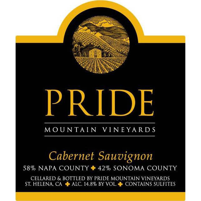 Pride Mountain Vineyards Cabernet Sauvignon 1998  Front Label