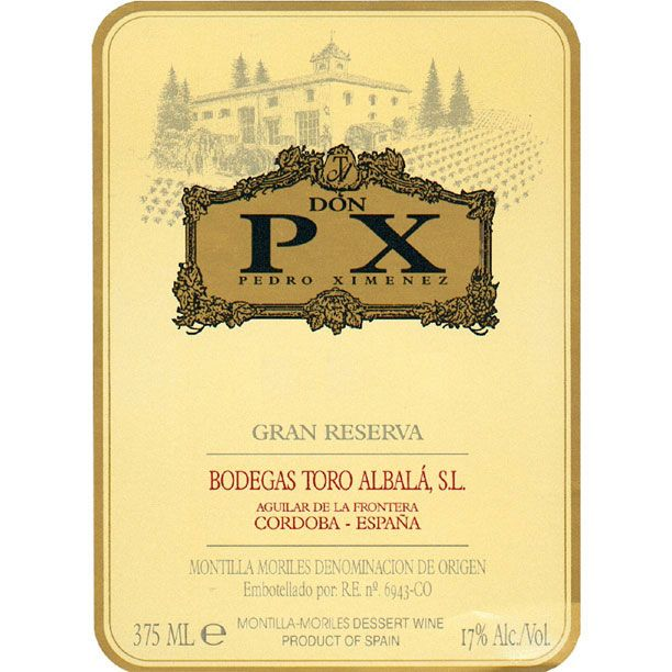 Toro Albala Gran Reserva Don PX (375ML half-bottle) 1990  Front Label