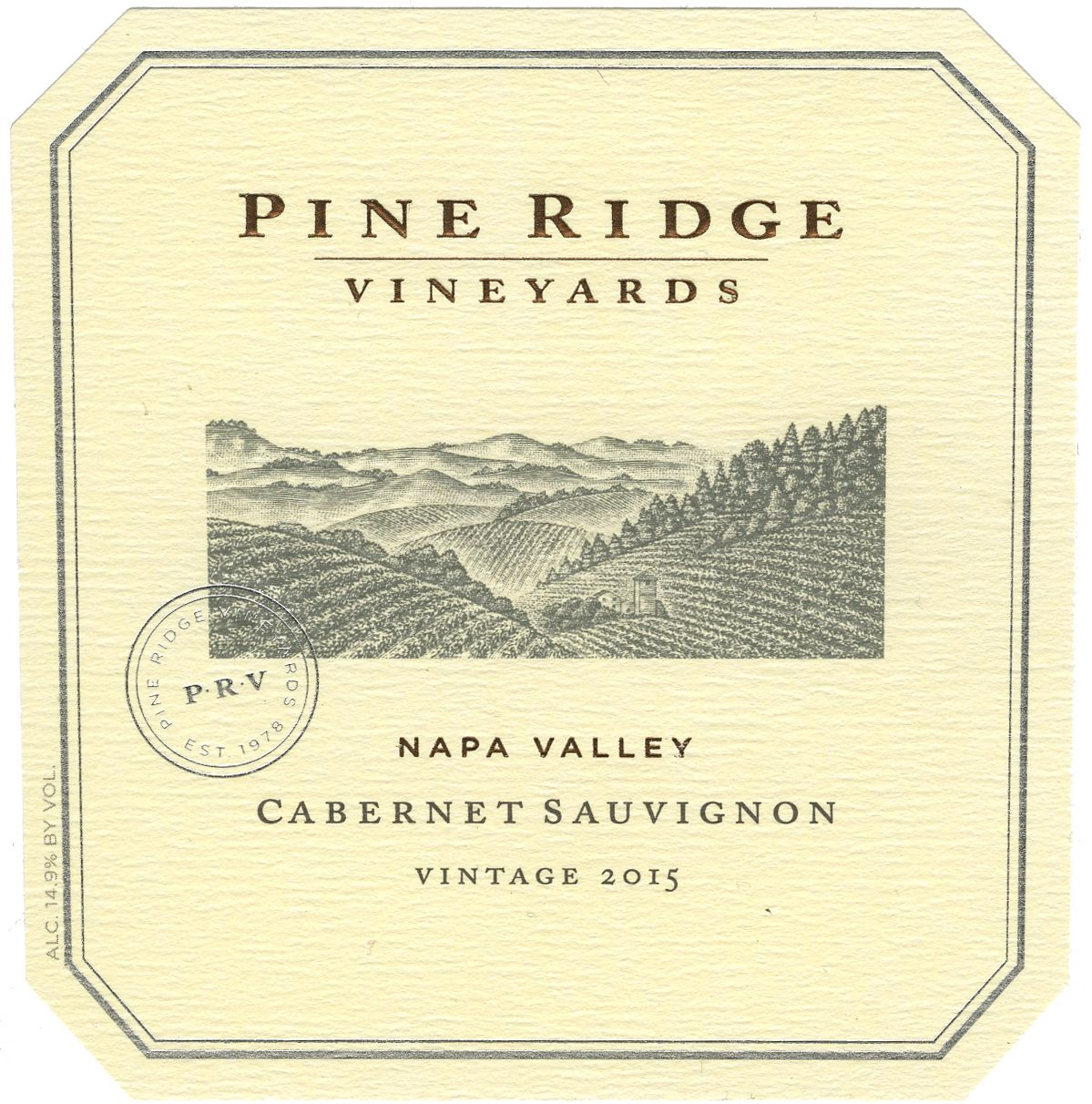 Pine Ridge Stags Leap Cabernet Sauvignon 2015  Front Label