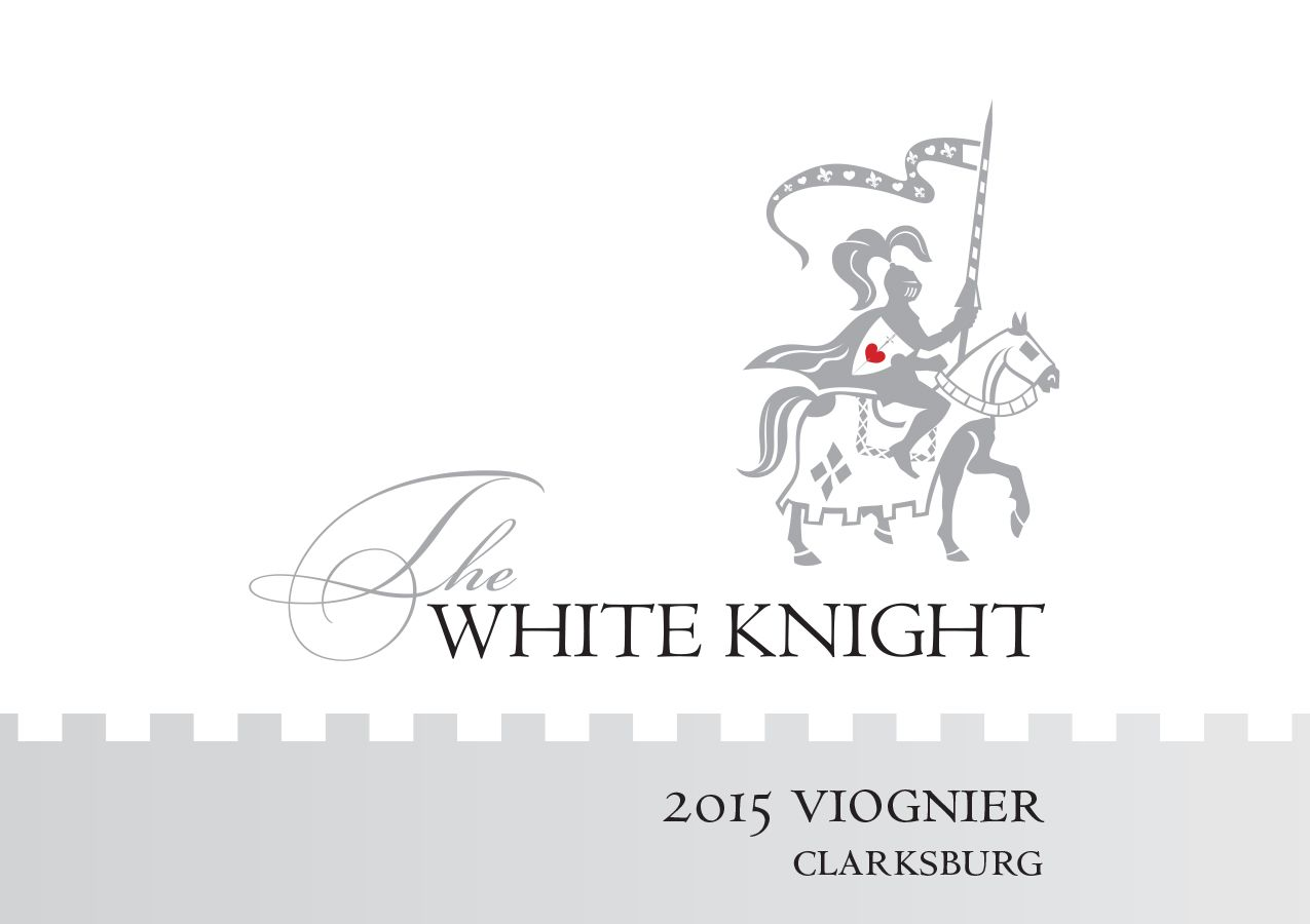 The White Knight Viognier 2015  Front Label