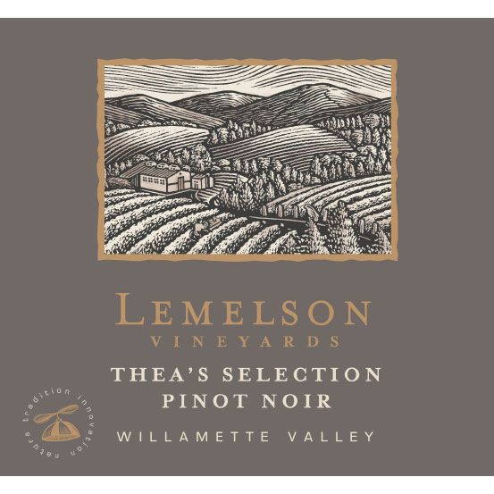 Lemelson Thea's Select Pinot Noir 2016  Front Label