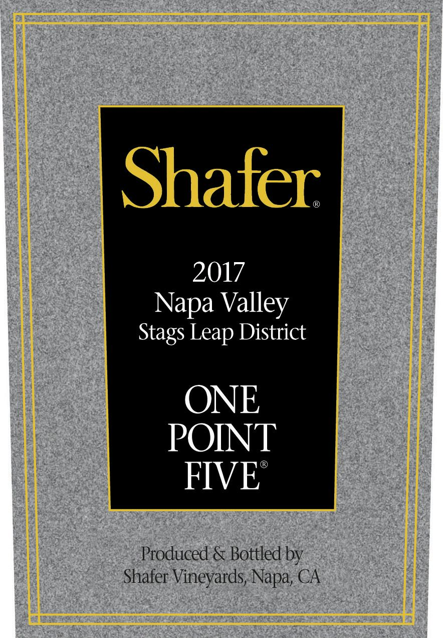 Shafer One Point Five Cabernet Sauvignon 2017  Front Label