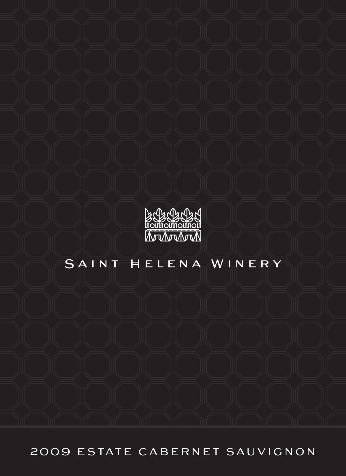 St. Helena Winery Estate Cabernet Sauvignon 2009  Front Label