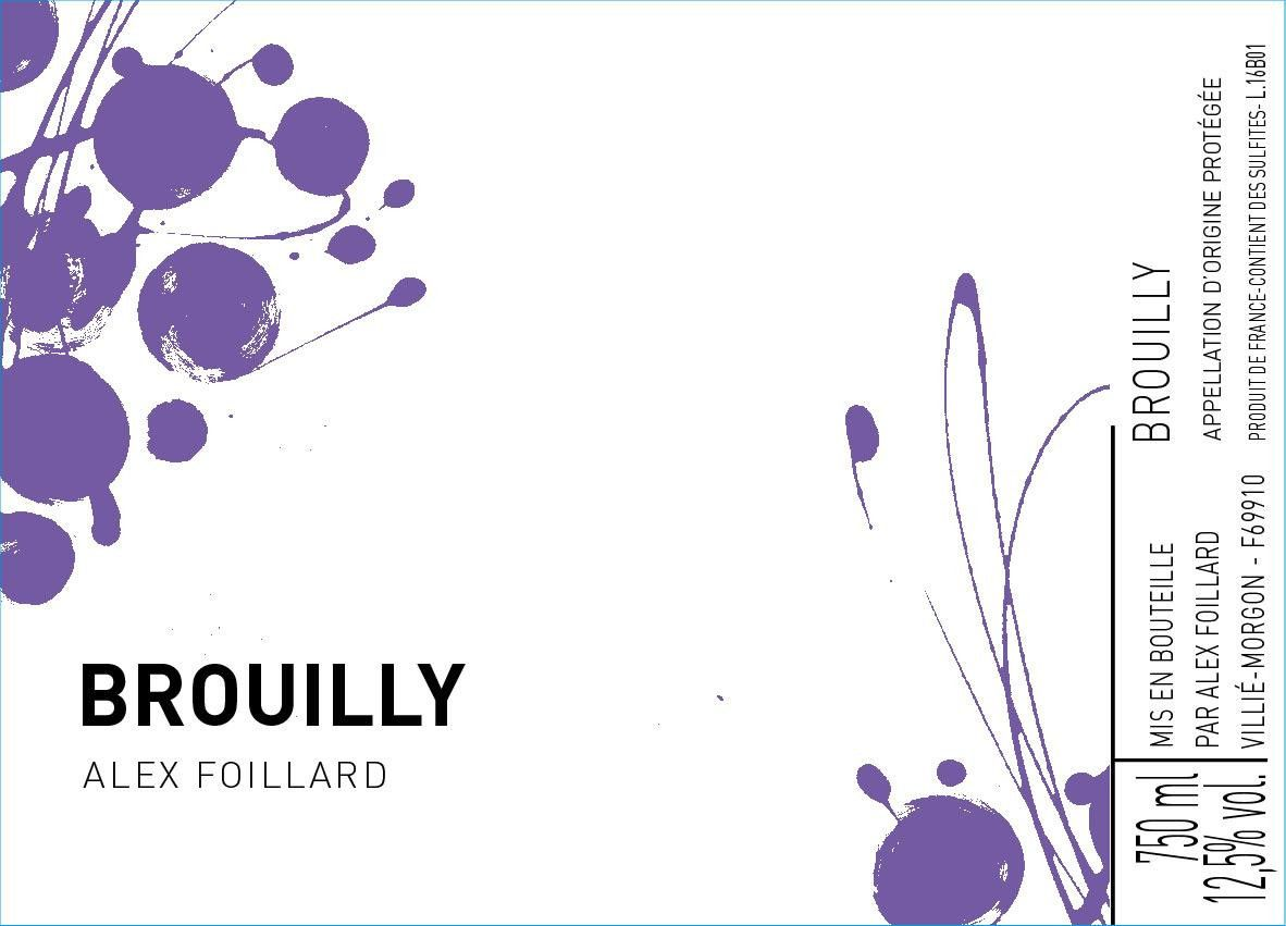 Domaine Jean Foillard Brouilly 2018  Front Label