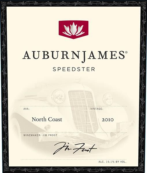 AuburnJames Winery Speedster 2010  Front Label