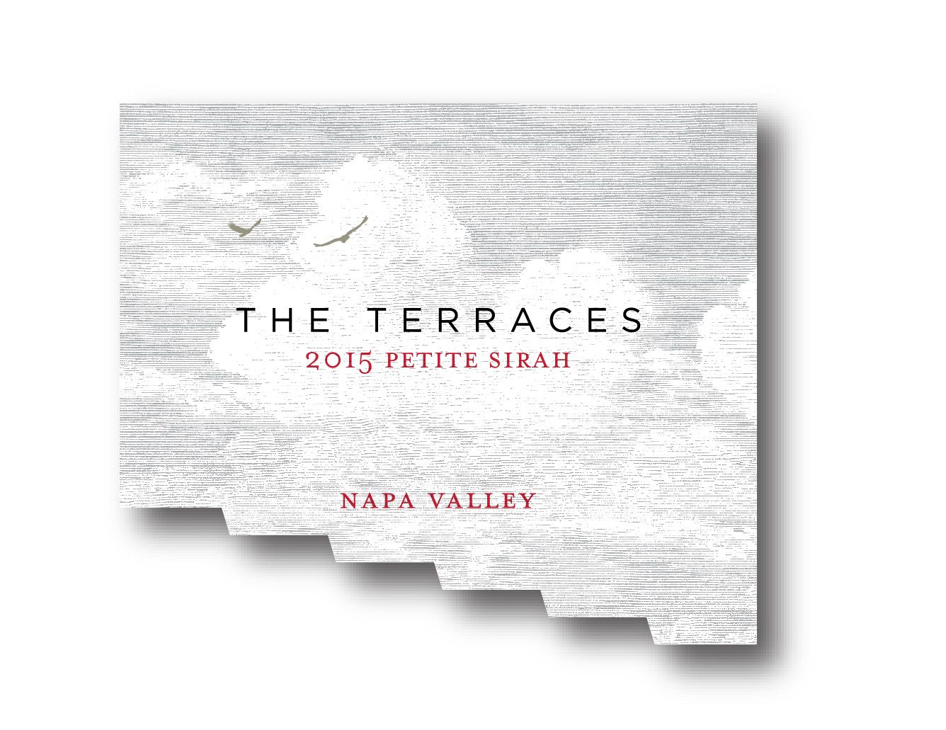 The Terraces Petite Sirah 2015  Front Label