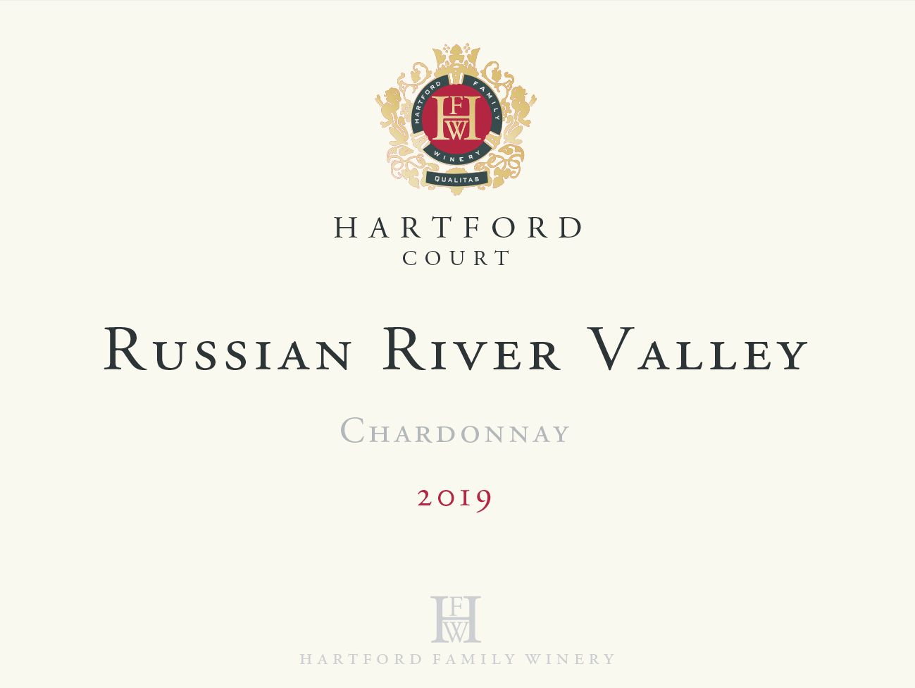 Hartford Court Russian River Chardonnay 2019  Front Label