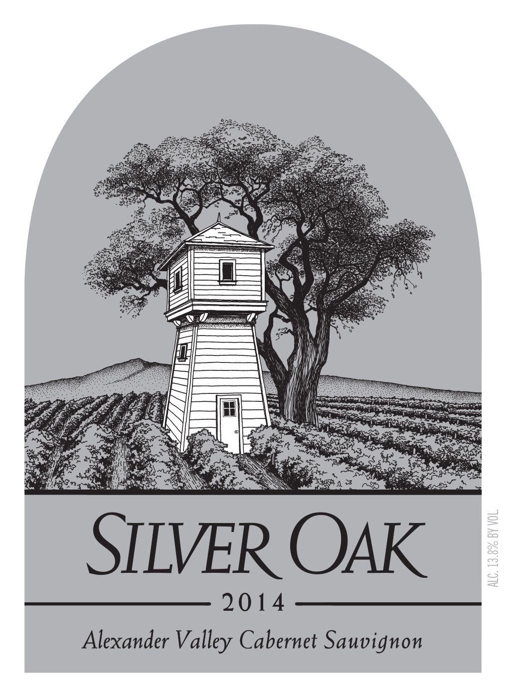 Silver Oak Alexander Valley Cabernet Sauvignon (6 Liter Bottle) 2014 Front Label
