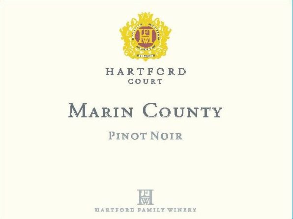 Hartford Court Marin Pinot Noir 2014 Front Label