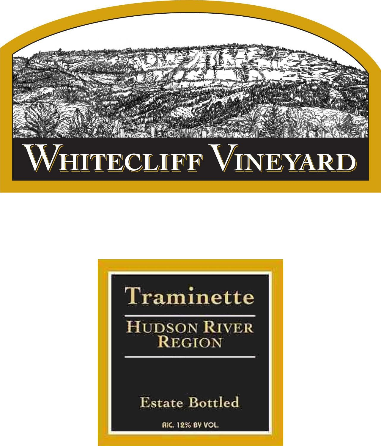Whitecliff Vineyard & Winery Traminette 2012 Front Label