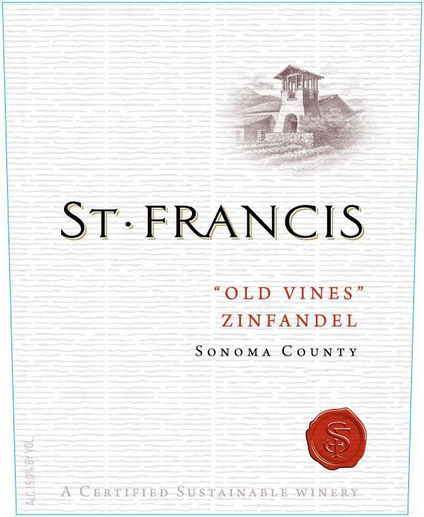 St. Francis Old Vines Zinfandel 2017  Front Label