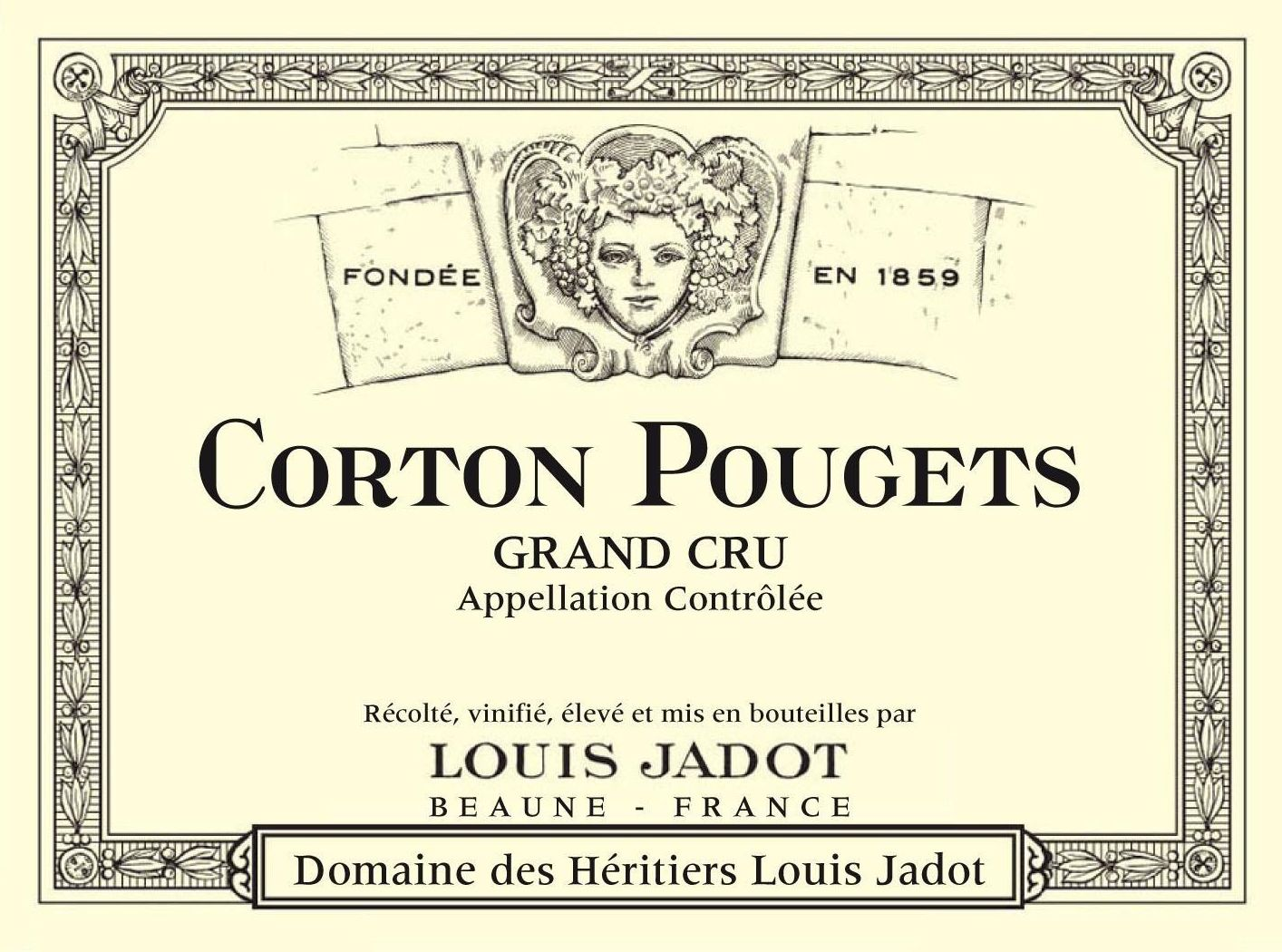 Louis Jadot Corton Pougets Grand Cru 2017  Front Label