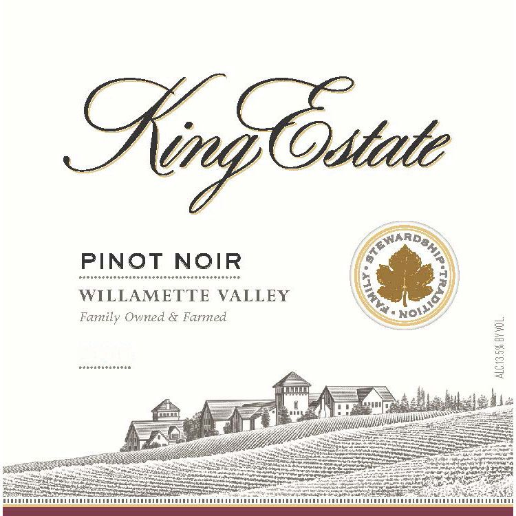 King Estate Willamette Valley Pinot Noir 2017  Front Label