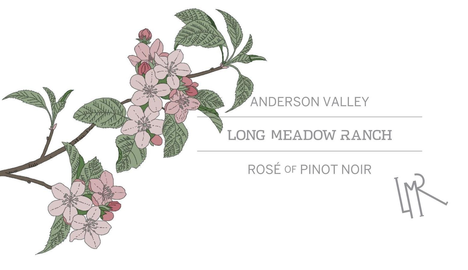 Long Meadow Ranch Anderson Valley Rose 2017  Front Label