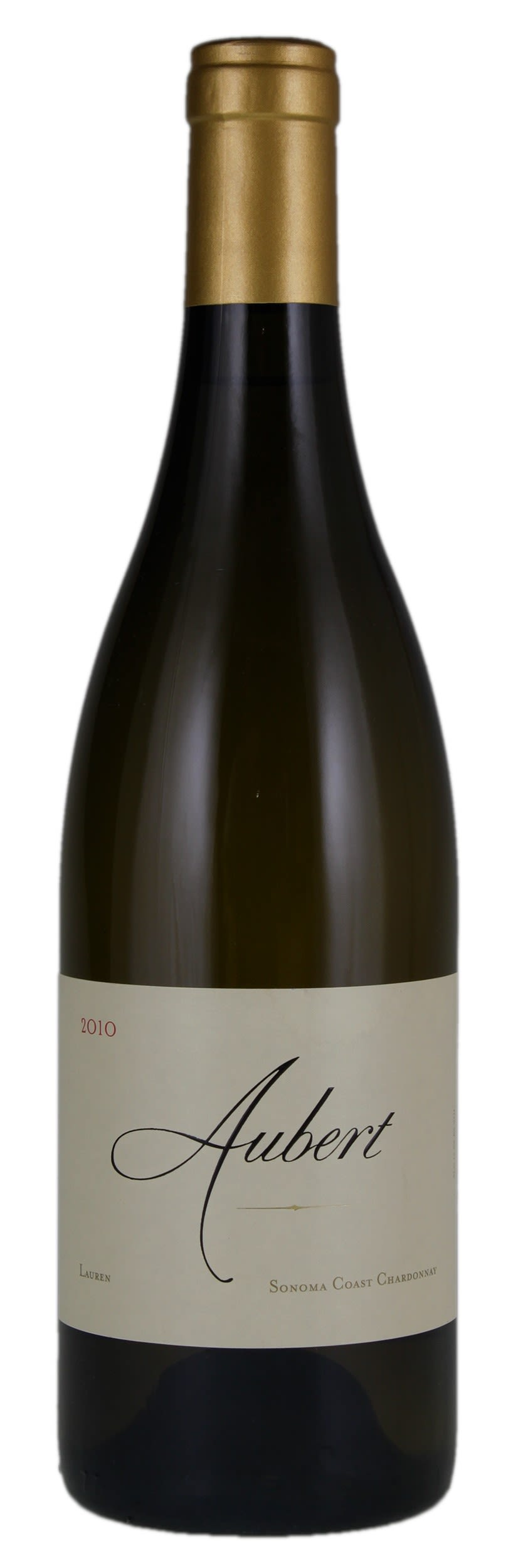 Aubert Lauren Vineyard Chardonnay 2010  Front Bottle Shot
