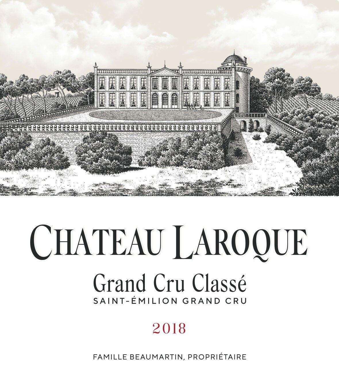 Chateau Laroque (Futures Pre-Sale) 2018  Front Label