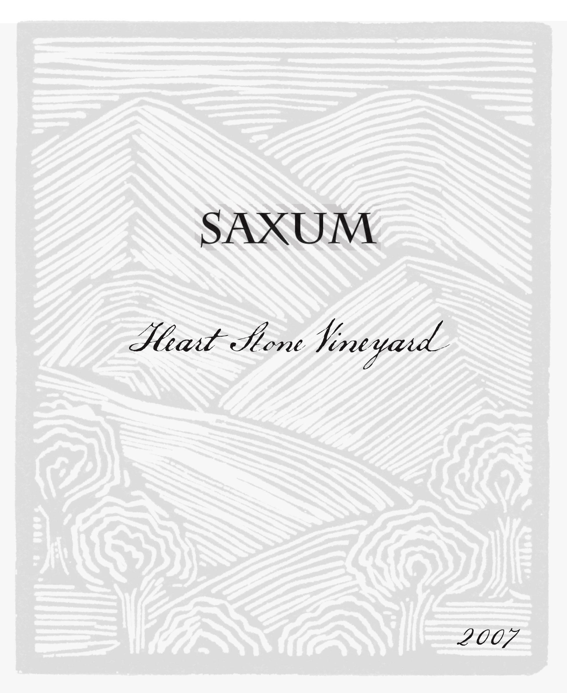 Saxum Heart Stone Vineyard 2007  Front Label