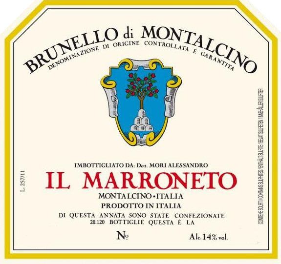 Il Marroneto Brunello di Montalcino 2014 Front Label