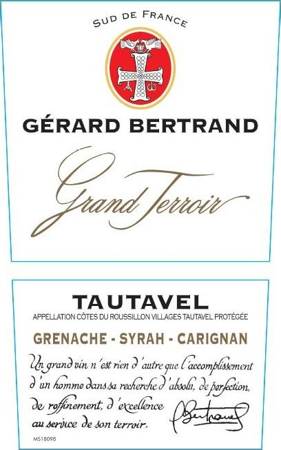 Gerard Bertrand Grand Terroir Tautavel 2016  Front Label