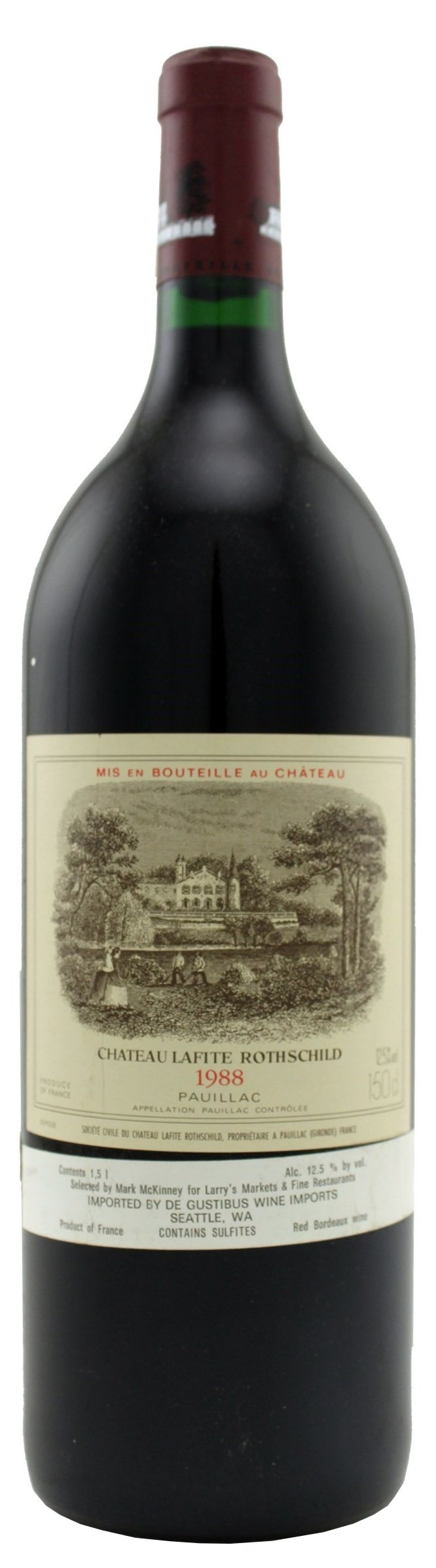 Chateau Lafite Rothschild  1988  Front Bottle Shot