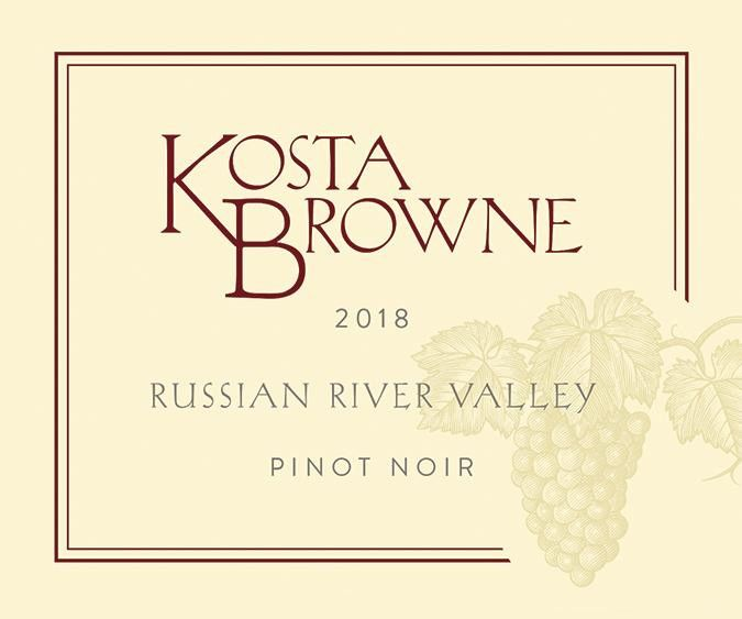 Kosta Browne Russian River Pinot Noir 2018  Front Label