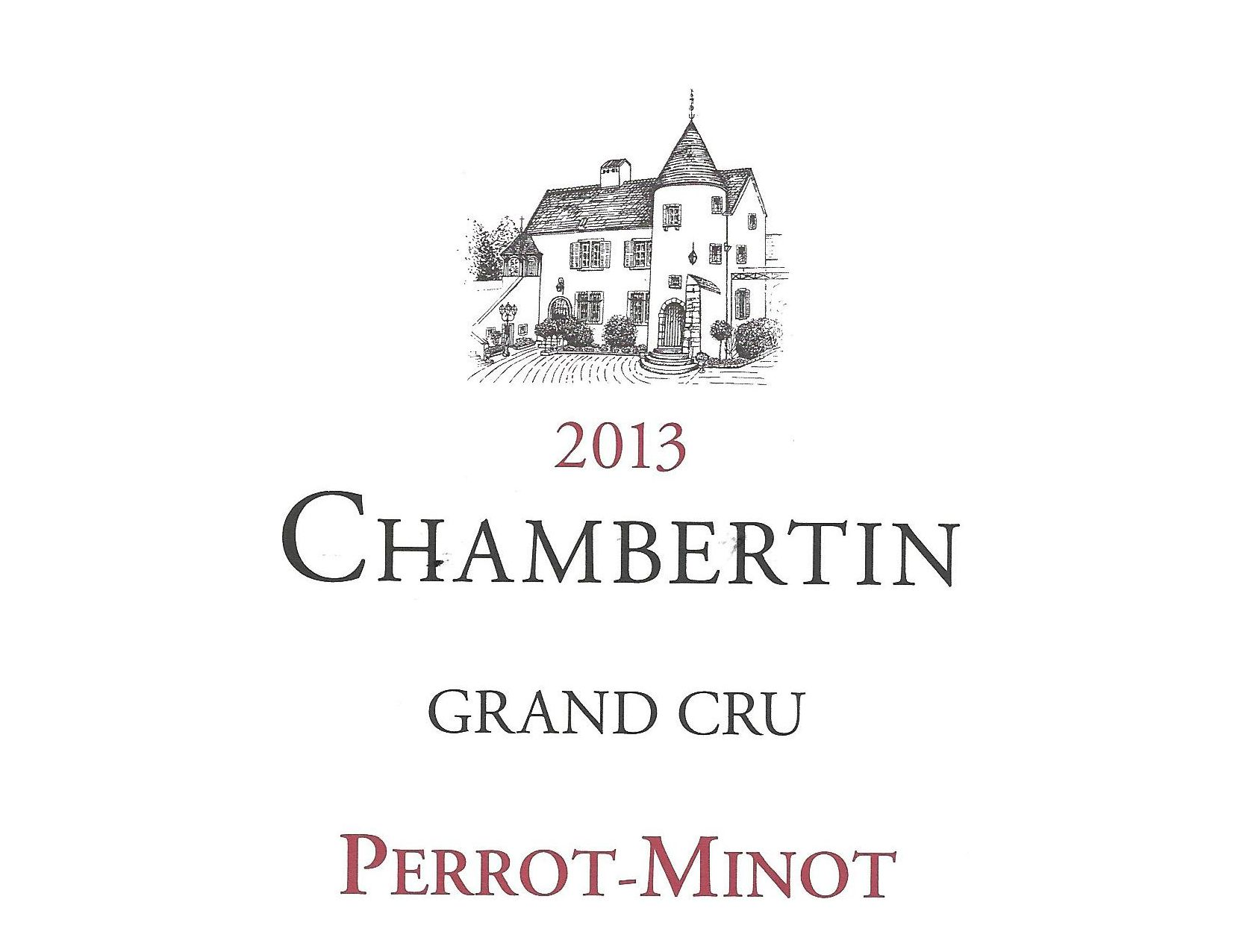 Domaine Perrot-Minot Chambertin Grand Cru Vieilles Vignes 2013  Front Label