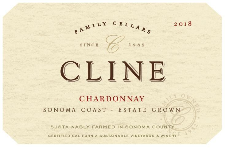 Cline Estate Chardonnay 2018 Front Label