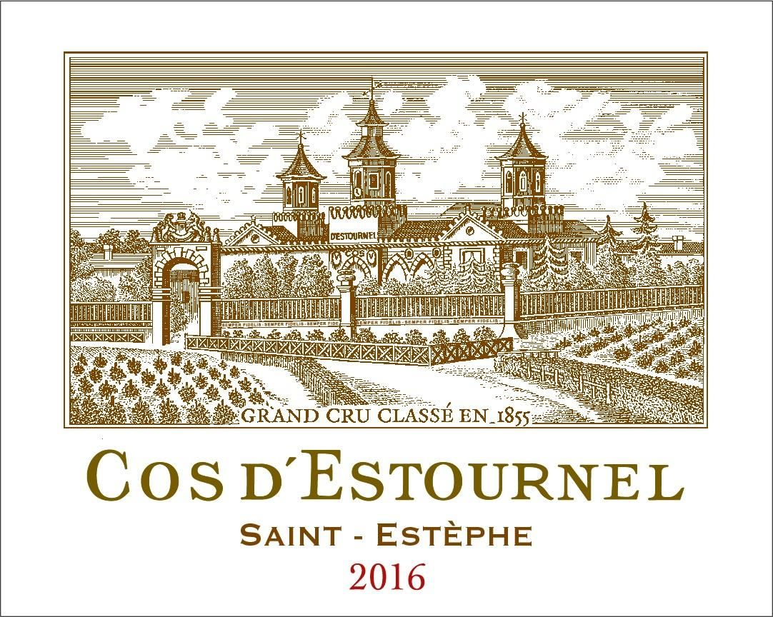 Chateau Cos d'Estournel (6 Liter Bottle) 2016 Front Label