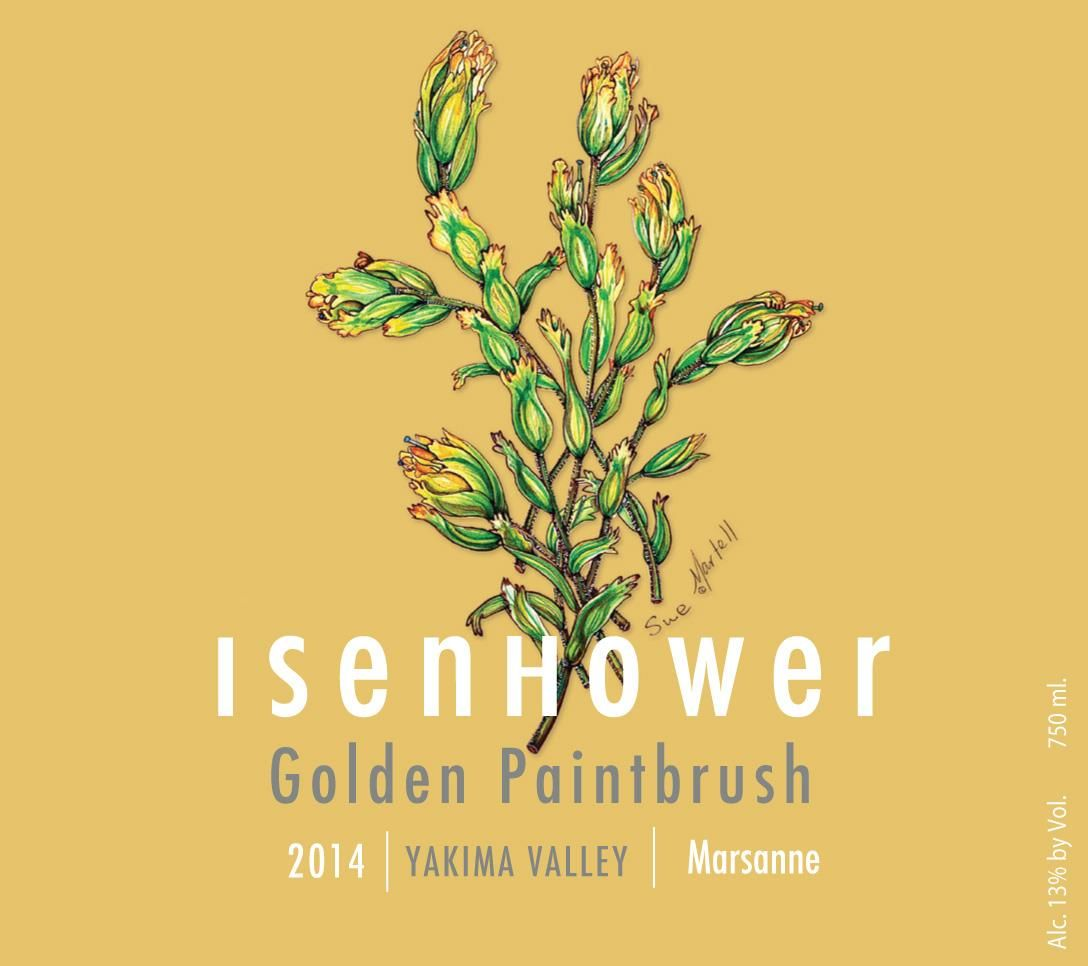 Isenhower Golden Paintbrush 2014  Front Label