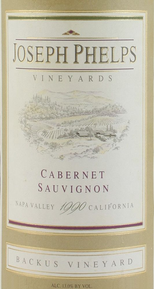Joseph Phelps Backus Vineyard Cabernet Sauvignon 1990  Front Label