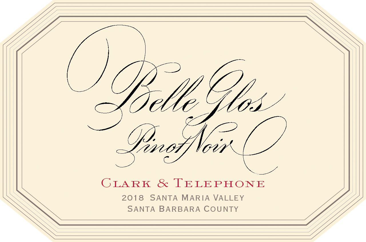 Belle Glos Clark and Telephone Vineyard Pinot Noir 2018  Front Label