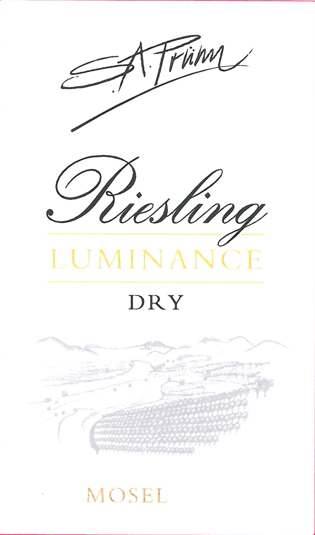 S.A. Prum Luminance Riesling 2017  Front Label