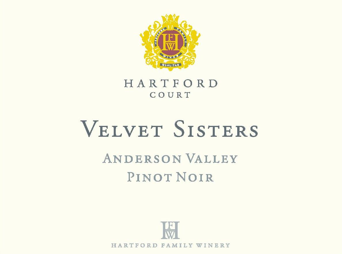 Hartford Court Velvet Sisters Vineyard Pinot Noir 2015 Front Label