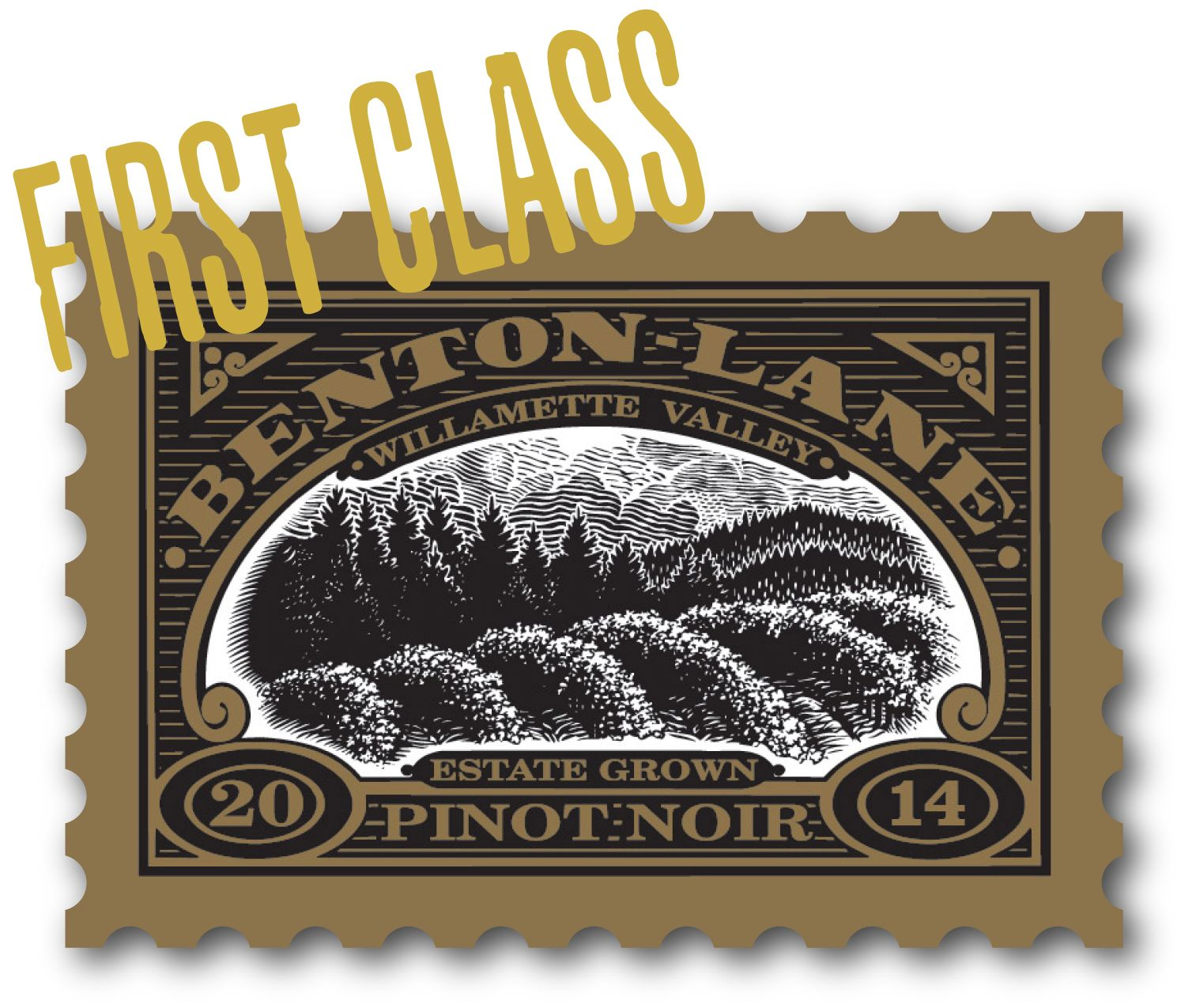 Benton Lane First Class Pinot Noir 2014  Front Label