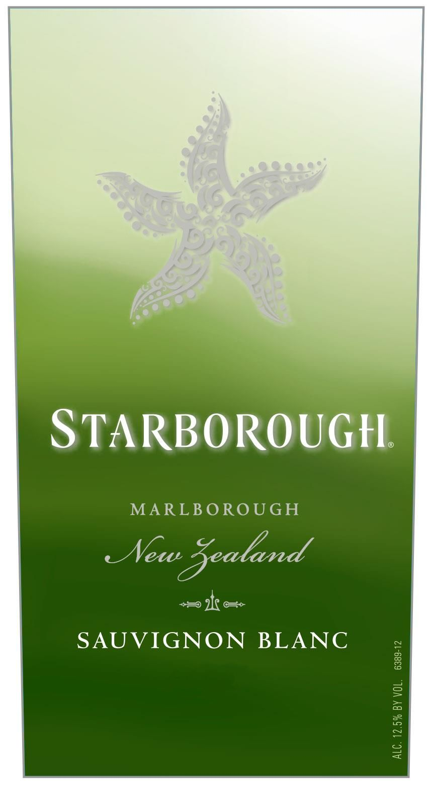 Starborough Sauvignon Blanc Marlborough 2020  Front Label