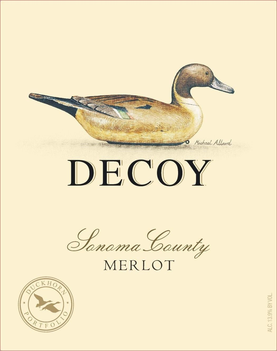 Decoy Merlot 2017 Front Label
